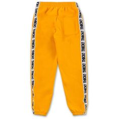 Thick! Elastic Band Sweatpants in Mustard (2 135 UAH) ❤ liked on Polyvore featuring activewear, activewear pants, pants, thick sweatpants, orange sweatpants, orange sweat pants and sweat pants
