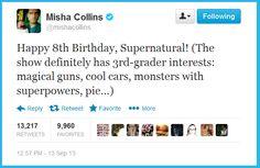 Happy 8th birthday Supernatural