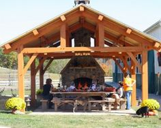tennessee pavilions homestead timber frames timber framing timber frame handcrafted timber frames - Patio Pavilion Ideas