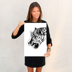 A personal favorite from my Etsy shop https://www.etsy.com/listing/241117984/leopard-art-print