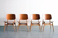 Borge Mogensen : Danish modern teak Borge Mogensen dining chairs