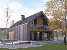 Pavilion Roof Design – Porch and Roof Barn House Design, Modern Barn House, Barn House Plans, Modern House Design, Gable Roof Design, House Cladding, Mansard Roof, House Layouts, Modern Architecture