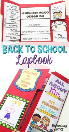 Get ready for back to school with this *EDITABLE* All About Me Lapbook activity! This is a great first week of school, open house or back to school night display project! First Week Of School Ideas, First Day Of School Activities, Back To School Night, Beginning Of The School Year, New School Year, I School, School 2017, All About Me Project, Summer Bulletin Boards