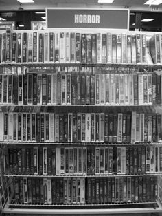 I miss wandering around the horror section of video rental stores! :(
