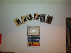 Uses for my sons Karate boards. Instead of stacking them in the closet.
