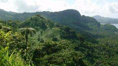 Vanua Levu island hills near Savusavu, Fiji