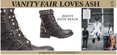 #Vanityfair #abbina gli #anfibi #Reese #Black di #Ash dallo #stile #rock ad un #abito #bianco in #pizzo dallo #stile #romantico. #Contrapposizioni da #sperimentare!