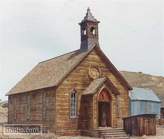 Today in history: September 1882 - The first gathering in the Methodist Church in Bodie took place. Bodie California, Abandoned Places, Thing 1, Tours, Cabin, Mansions, History, House Styles, Building