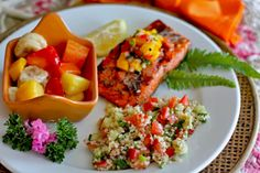 Hawaiian party recipe ideas... wonder if I could try the salad with quinoa?