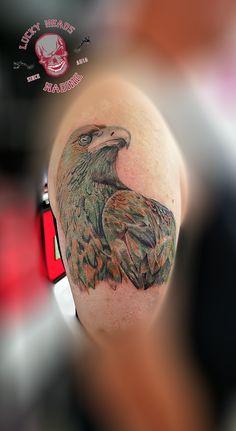 #adler #adlertattoo #eagletattoo #eagle #tattoo #ink #itzehoe #luckyheadstattoo #tattooitzehoe #nofilter Head Tattoos, Tattoo Ink, Eagle, Tattoo