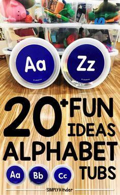 Alphabet Tub Activities
