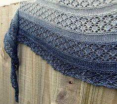 Serenity Shawl - simple, clean openwork. Crescent shawl.