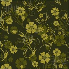 Illustration of Seamless vector floral background. For easy making seamless pattern just drag all group into swatches bar, and use it for filling any contours.
