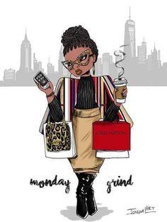 The artwork of Jonquel Norwood featuring body positive art and plus size fashion illustration. Female empowerment is the inspiration for this artist. Black Girl Art, Black Women Art, Black Girls Rock, Black Love, Black Is Beautiful, Black Girl Magic, Beautiful Body, Beautiful Pictures, African American Art
