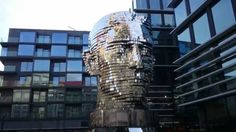 Prague has a new attraction. Franz Kafka head - mechanical statue by David Černý.