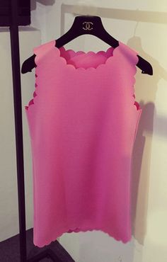 Pink Scalloped Dress
