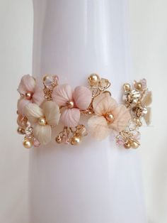 Hey, I found this really awesome Etsy listing at https://www.etsy.com/listing/191736422/pink-tones-floral-bouquet-bridal-gold