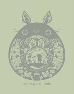 My Neighbor Totoro by ~pronouncedyou on deviantART. Such a wonderful illustration of a beloved movie.