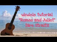 """Romeo and Juliet""Dire Straits ukulele tutorial italiano -link in descri..."