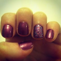 Add a pop of sparkle to a nail color
