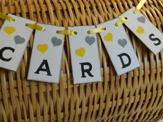 MINI Cards Box Sign -Birdcage Cards Banner- Suitcase sign- Wedding Reception Cards Banner-/custom colors on Etsy, $9.00