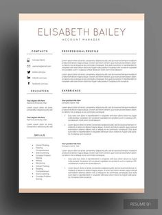 Resume Template, Cv Template, Professional Resume Template, Resume Cover  Letter, Curriculum Vitae,   Resume Or Cv