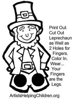 St. Patrick's Day Printable for Kids: Leprechaun Puppet