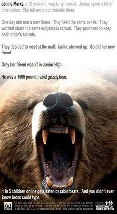O u grizzly bears.
