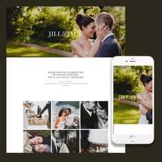 Responsive website template for a wedding site by ItSoEzi the online website builder that needs no coding.