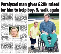 Dan Black donates £20k to Brecon Vaughan. Daily Express. Pics by Adam Gray *Reasons to believe there's still good in this world.*