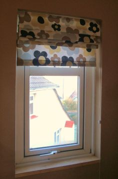 Roman blind - handmade by Rebekah Roman Blinds, Valance Curtains, Windows, Rustic, Room, Handmade, House, Ideas, Home Decor