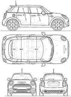 Mini cooper blueprint google projects to try pinterest mini cooper 4 door 2015 malvernweather Choice Image