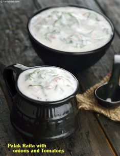 Palak Raita with Onions and Tomatoes recipe | by Tarla Dalal | Tarladalal.com | #41222