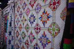 Gorgeous quilt in the Bloc-Loc booth - maker unknown   Flickr - Photo Sharing!