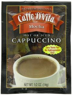Caffe D'Vita Premium Instant Cappucino, g 24 Single Serve Envelopes *** Check this awesome image Mocha, Iced Cappuccino, Coffee Store, Single Serve Coffee, Tim Hortons, Instant Coffee, Blended Coffee, Envelopes, Brewing