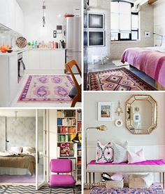 How to decorate with Radiant Orchid, Pantone's colour of 2014 via decor 8