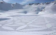 Beautiful snow quilt