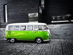 Green VW bus
