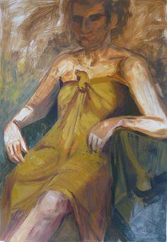 Identiteettikriisi, akryyli, 70x100 cm (Katja Hynninen, 2014)