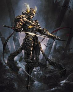 View an image titled 'Samurai Art' in our Mobius Final Fantasy art gallery featuring official character designs, concept art, and promo pictures. Mobius Final Fantasy, Final Fantasy Art, Dark Fantasy Art, Fantasy Samurai, Fantasy Armor, Ronin Samurai, Samurai Warrior, Katana, Armor Concept