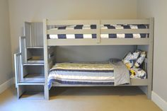 One Room Challenge:  The Gray Bunk Beds Are In