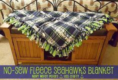 Handmade Christmas: No-Sew Fleece Blanket ~ USS Crafty