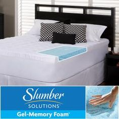 @Overstock - Sleep in cool comfort, cradled by this gel memory foam mattress topper. Five-and-a-half inches thick, it features a 1.5-inch fiber-filled cover and a 4-inch thick rejuvenating-gel, memory-foam core to absorb pressure and prevent excess heat buildup.http://www.overstock.com/Bedding-Bath/Slumber-Solutions-Gel-5.5-inch-Queen-King-Cal-King-size-Memory-Foam-and-Fiber-Mattress-Topper/6622902/product.html?CID=214117 $242.99