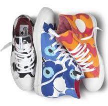 marimekko x converse Marimekko, Sock Shoes, Shoe Boots, Kid Shoes, All Star, High Top Sneakers, Sneakers Nike, Converse, Art Party