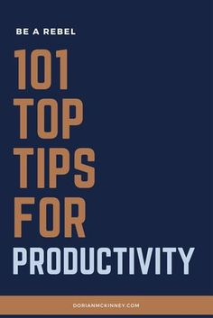 Do you need help being productive? Do you want to work smarter and not harder? Have I got the perfect tips for you.