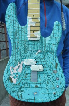I painted illustration on the guitar