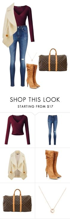 """Sem título #2905"" by mprocedi on Polyvore featuring moda, LE3NO, rag & bone/JEAN, Burberry, Gestuz, Louis Vuitton e Bulgari"