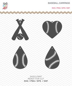 Baseball Earrings SVG DXF PNG eps teardrop Pendant bat decal Cut File for Cricut Design, Silhouette studio, Sure A Lot, Makes the Cut by SvgCutArt on Etsy