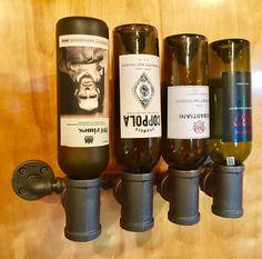 Black Pipe Wine Rack