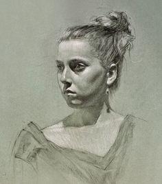 Fusain, craie blanche par Daniel Bilmes